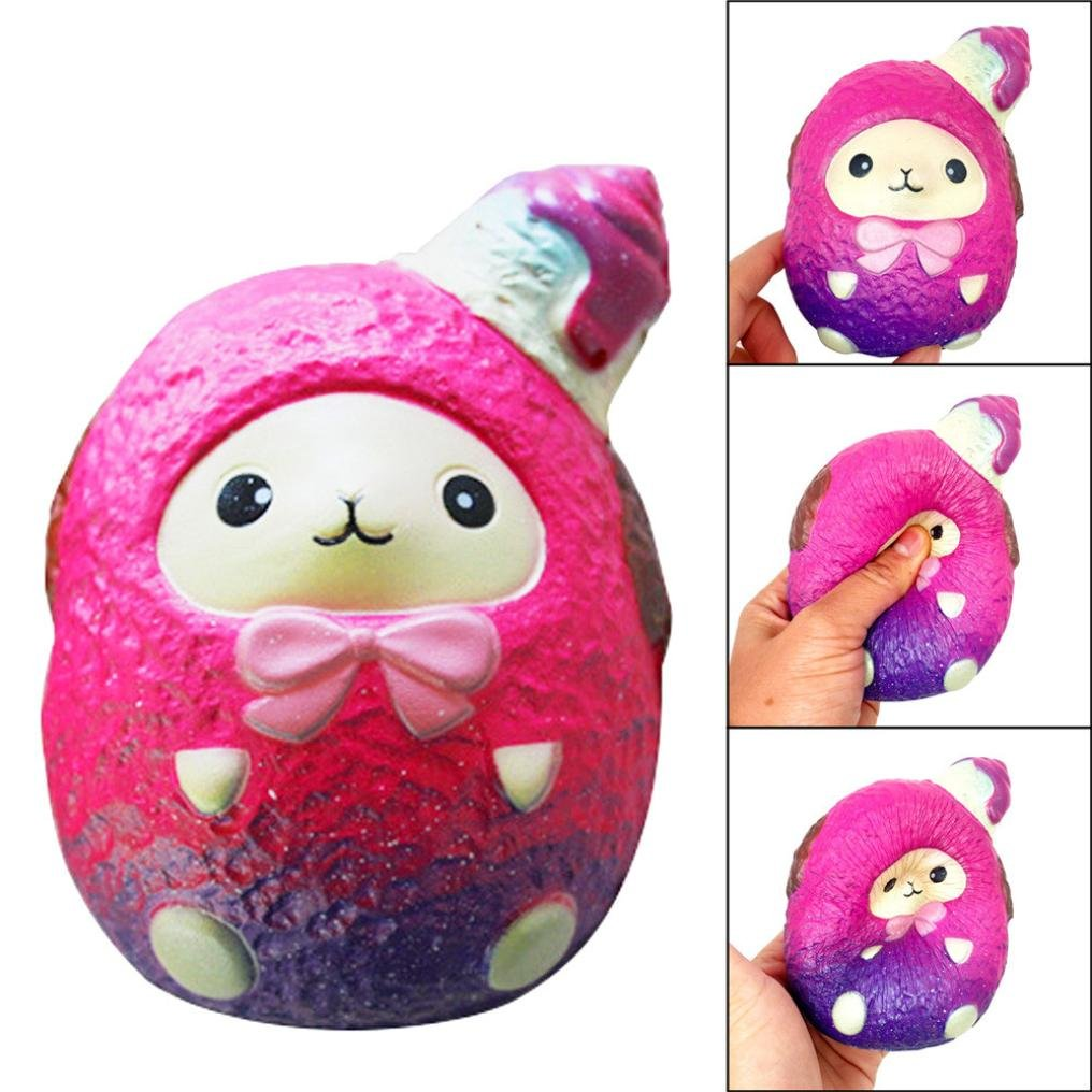 12cm Jumbo Squishy Ice Cream Sheep Cream Scented Squishies Slow Rising Charm Toy Collection (Pink, Size: about 9cmx8.5cmx12cm)