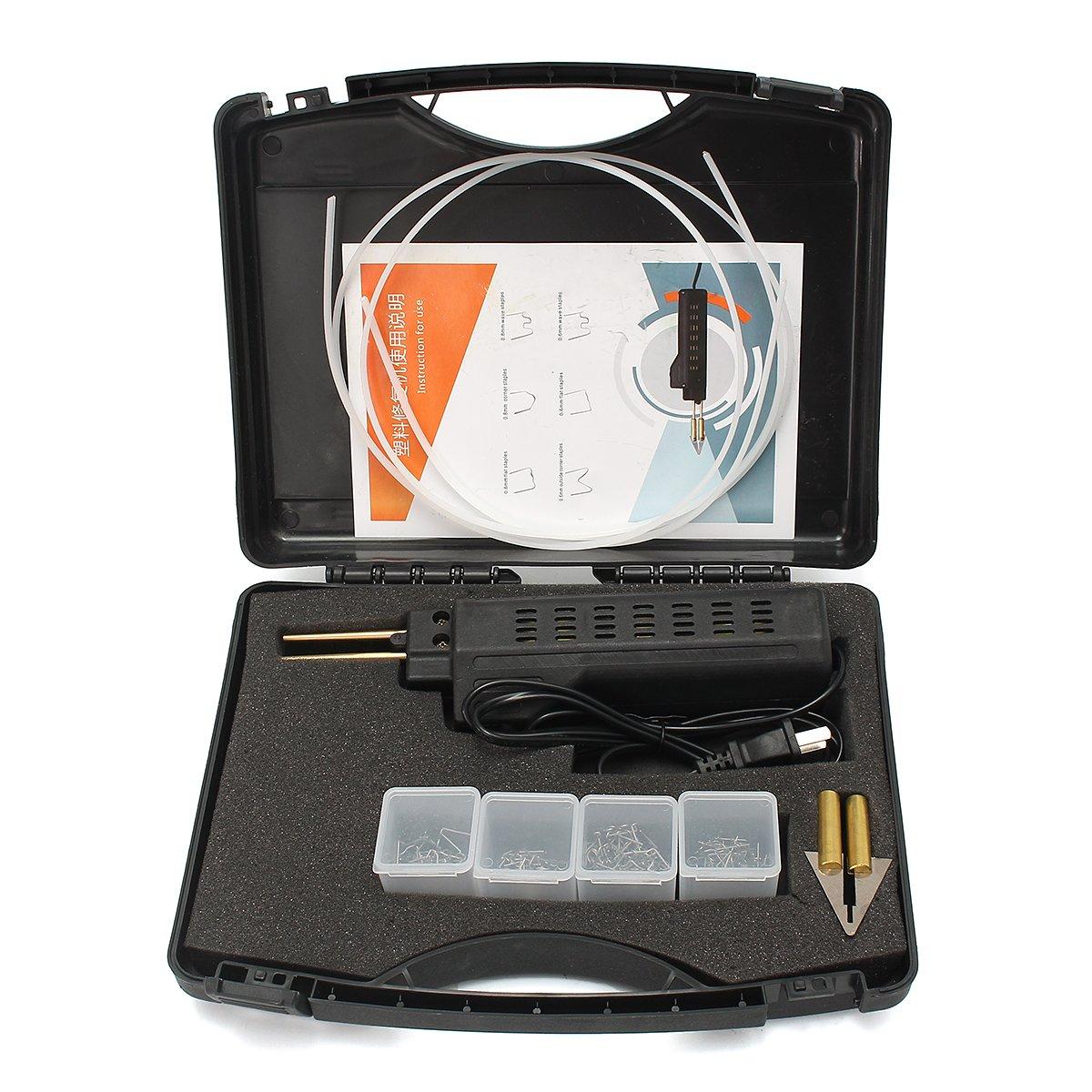 SAFETYON 200 Staples Hot Stapler Car Bumper Fender Fairing Welder Gun Plastic Repair Kit