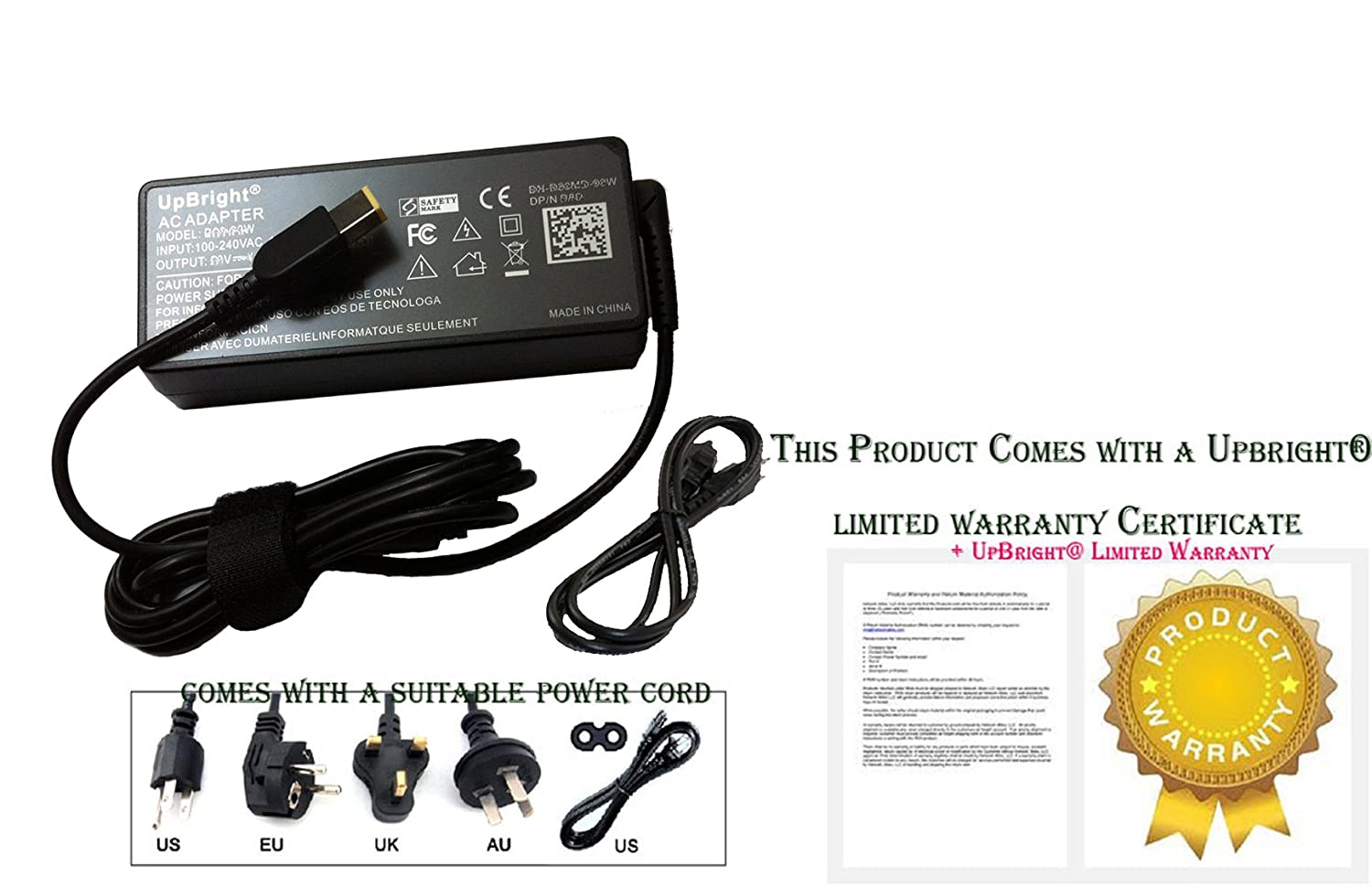 Amazon.com: UpBright New Global AC / DC Adapter For Lenovo ...