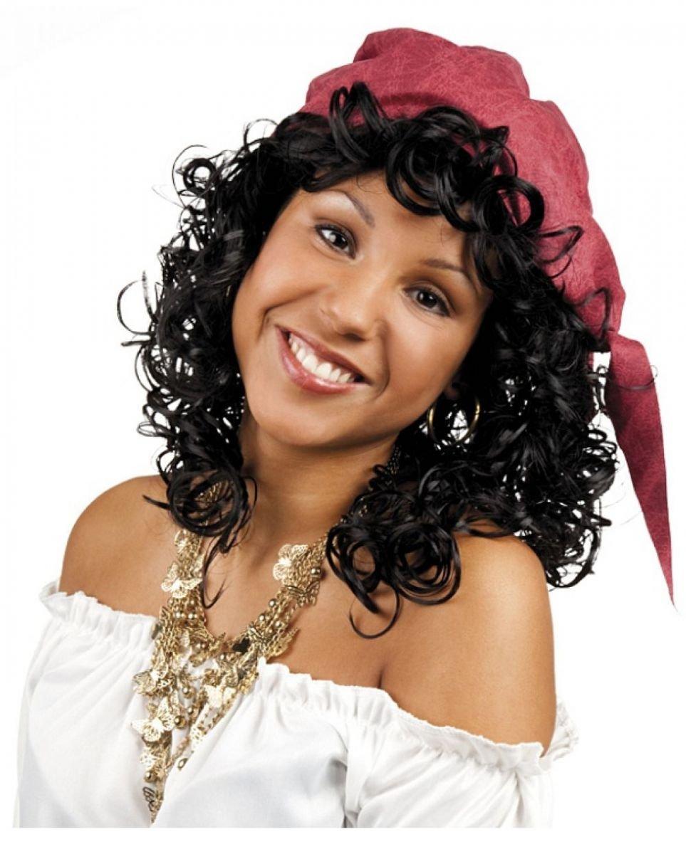 Horror-Shop negro rizado peluca Esmeralda: Amazon.es ...