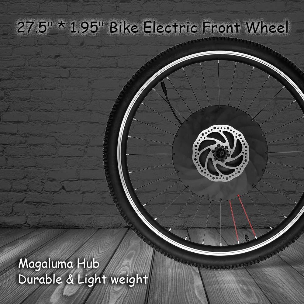 Lixada1 27.5インチ×1.95インチ フロントホイール 電動自転車ディスク/Vブレーキハブモーターキット 36V 240W パワフルモーターE-バイク変換 バッテリー付き B07GGZNMY1