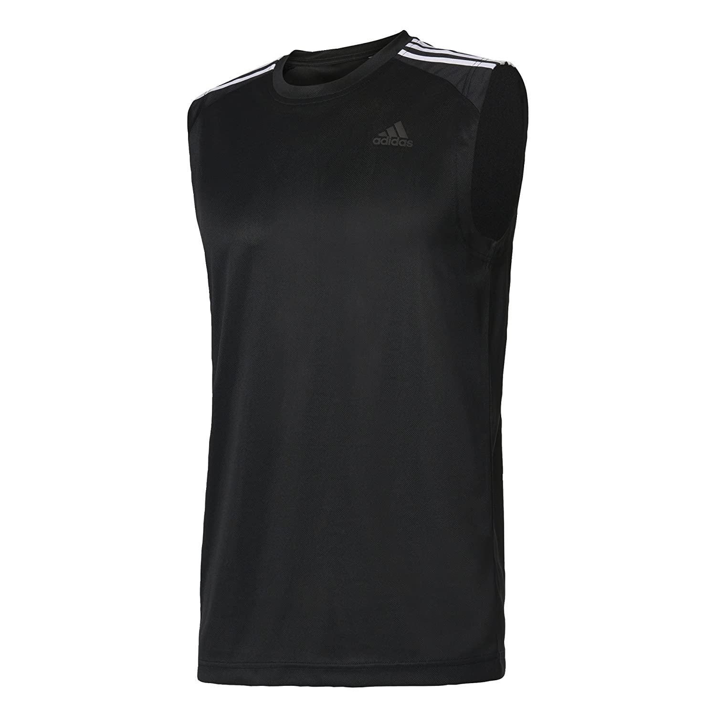 adidas Herren D2m 3-Stripes Sleeveless T-Shirt Black XL BK3549