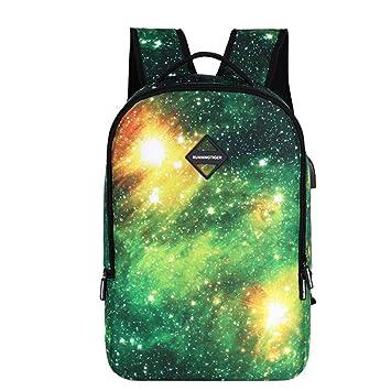 Mochilas Escolares Juveniles con Estampado Galaxia Mochila Infantiles de Escuela Lona Bolsa Casual Backpack de Viaje para Adolescentes Conjunto de 3 Piezas ...