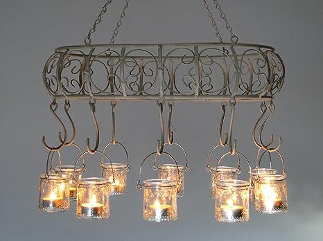 Portacandele Da Giardino : Vento luci lanterna da giardino portacandele cartella corona
