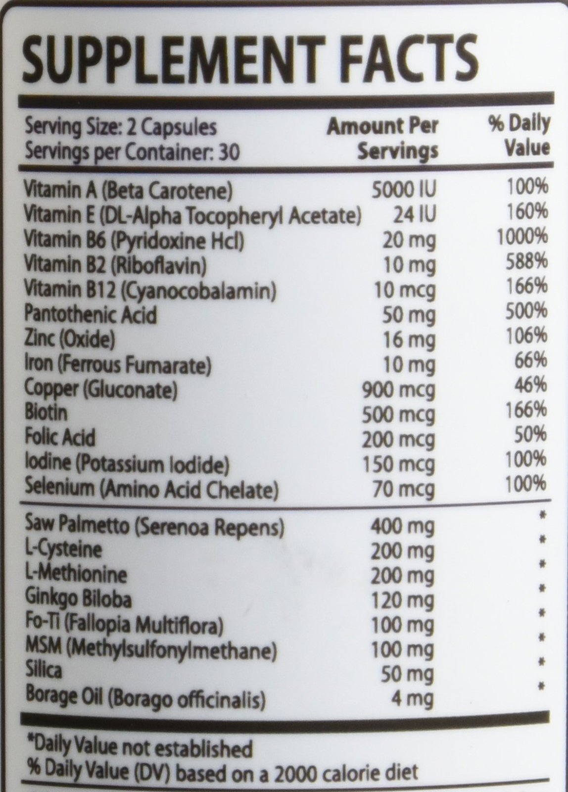 HairNu Natural Hair Growth Solution / Dietary Supplement, 1 Bottle – 60 Capsules by HairNu (Image #2)