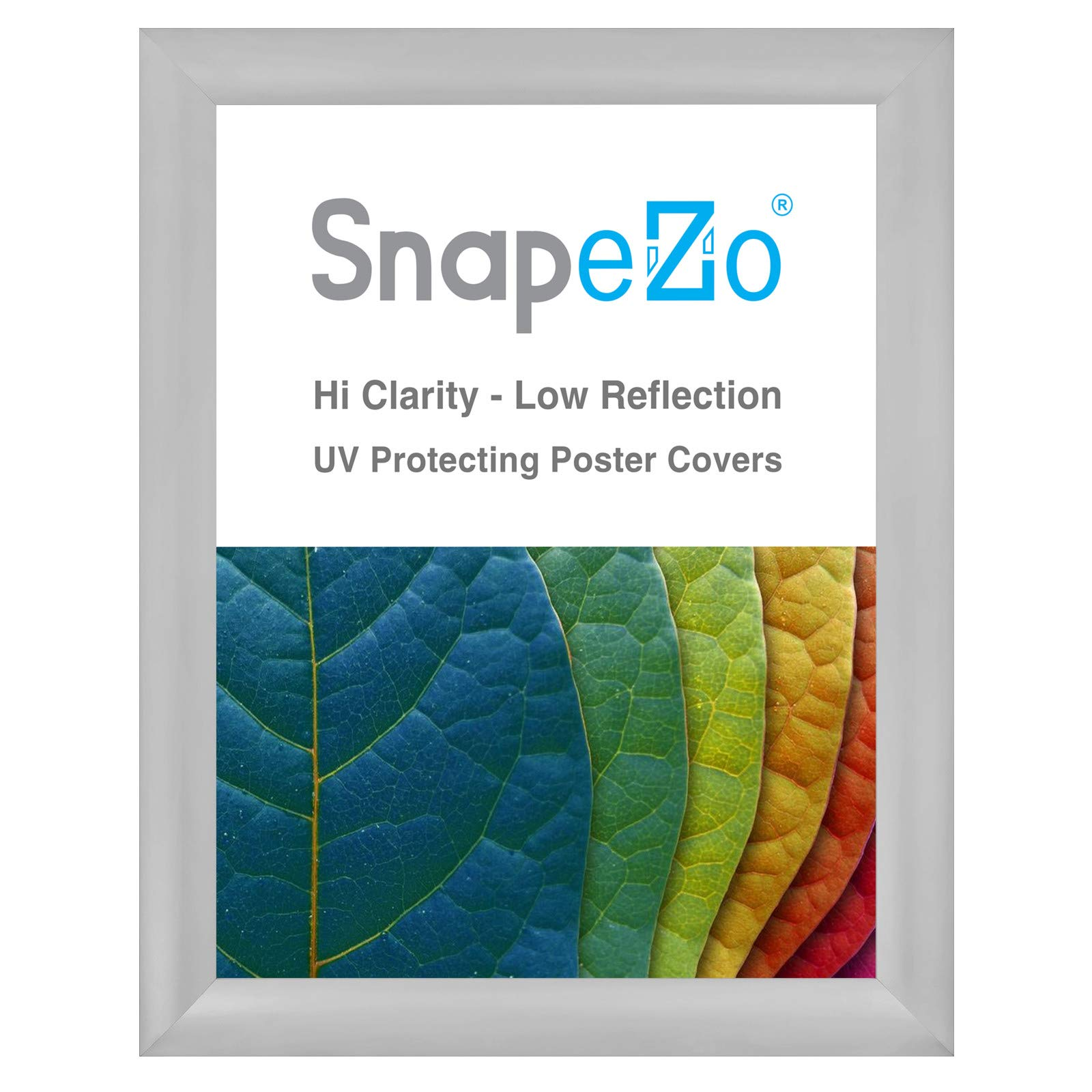 SnapeZo Poster Frame 36x48 Inches, Silver 2.2 Inch Aluminum Profile, Front-Loading Snap Frame, Wall Mounting, Super-Wide Series
