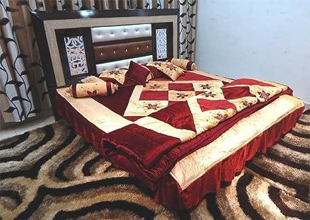 Buy Peponi Maroon Wedding Bedding Set 8 Pcs (Quilt, Double Bed ... : quilt double bed - Adamdwight.com
