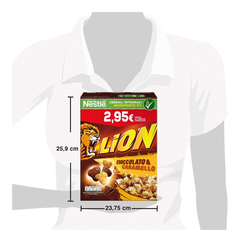 Cereales con chocolate y caramelo Nestlé Lion, 400 gr ...