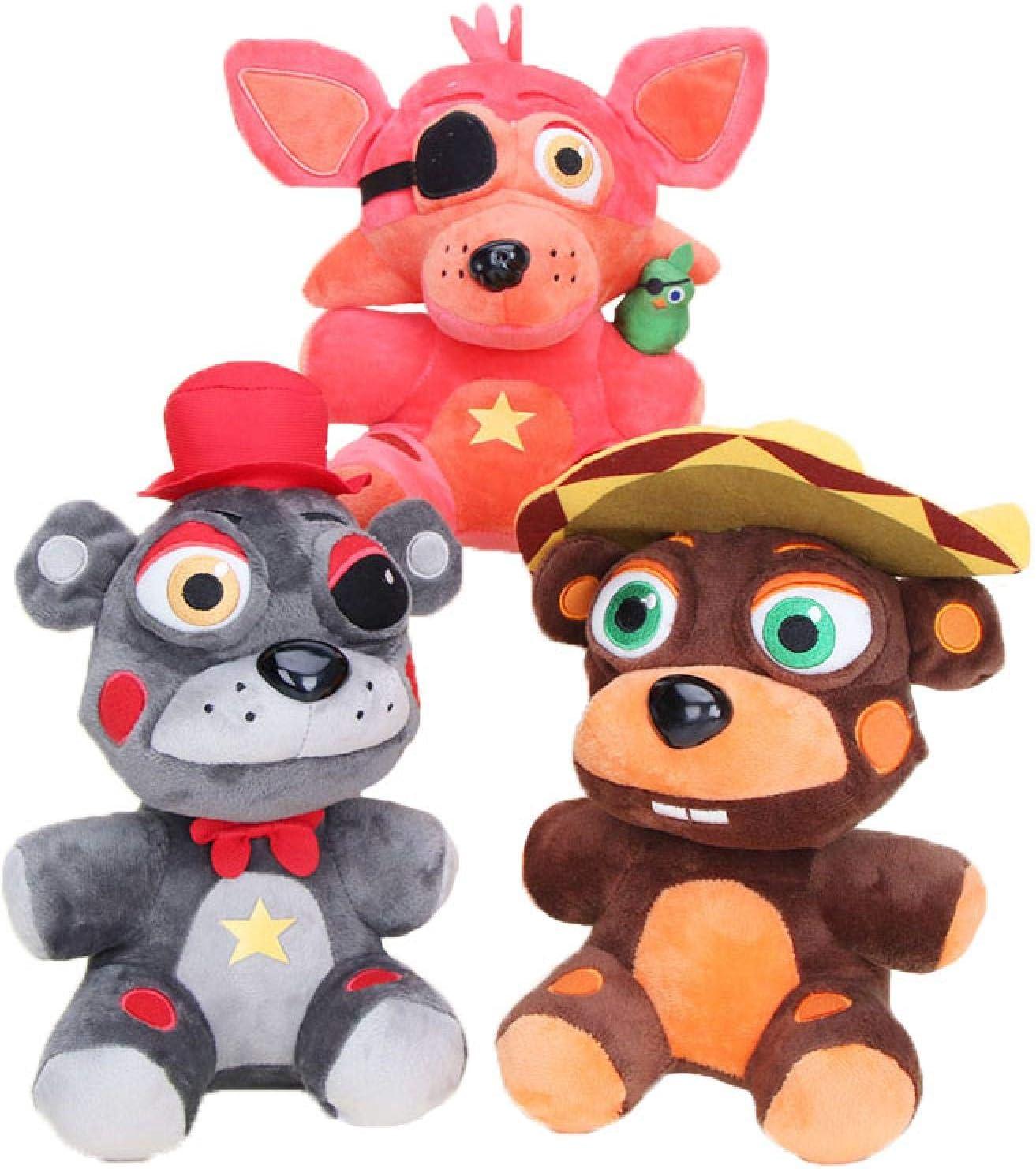 jingru Five Night At Freddy Plush Toy FNAF Freddy'S Plush Toys 3 Piezas 18Cm, Muñecos De Peluche, Oso, Conejo, Juego, Niños