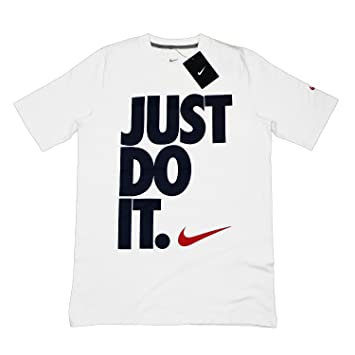 97db35398b5a5 NIKE Just Do It - Camiseta de Ajuste Estrecho Unisex - Blanco