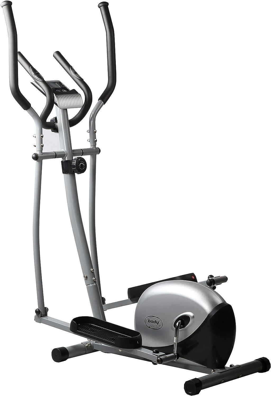 Sistema de frenado magnético Bodycoach Crosstrainer de aprox. 9 – 10 kg de masa oscilante, construcción compacta, pulso de mano, sensores.