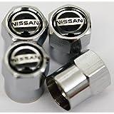 Nissan Chrome Wheel Valve Dust Caps. Juke Micra 370Z Qashqai X-TRAIL Murano