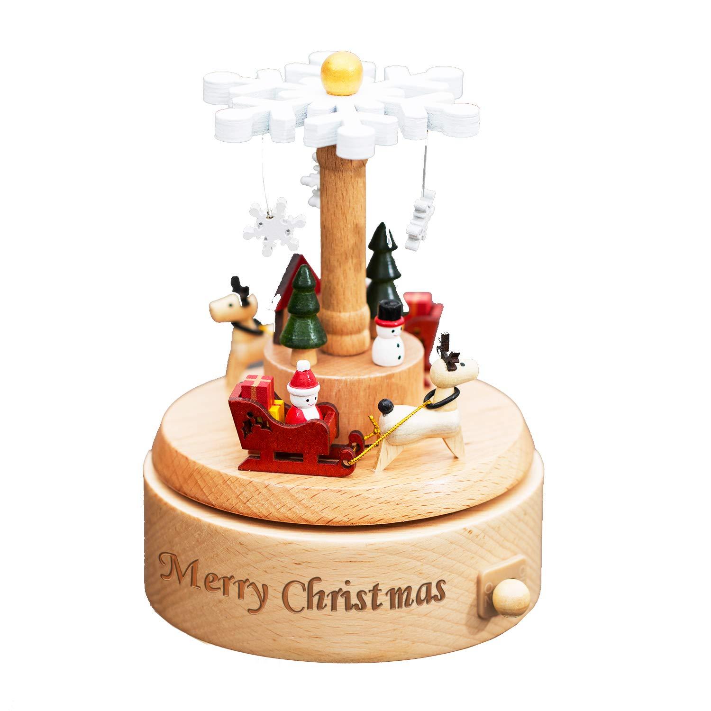 人気激安 smartyou音楽ボックス、Personalized木製音楽ボックスカスタマイズされたギフトのガールズ、ボーイズonクリスマス B07F11XMR6/誕生日/感謝祭 Snow/卒業日 B07F11XMR6 Snow Christmas Snow Christmas Snow, 一宮市:160f3efd --- hohpartnership-com.access.secure-ssl-servers.biz