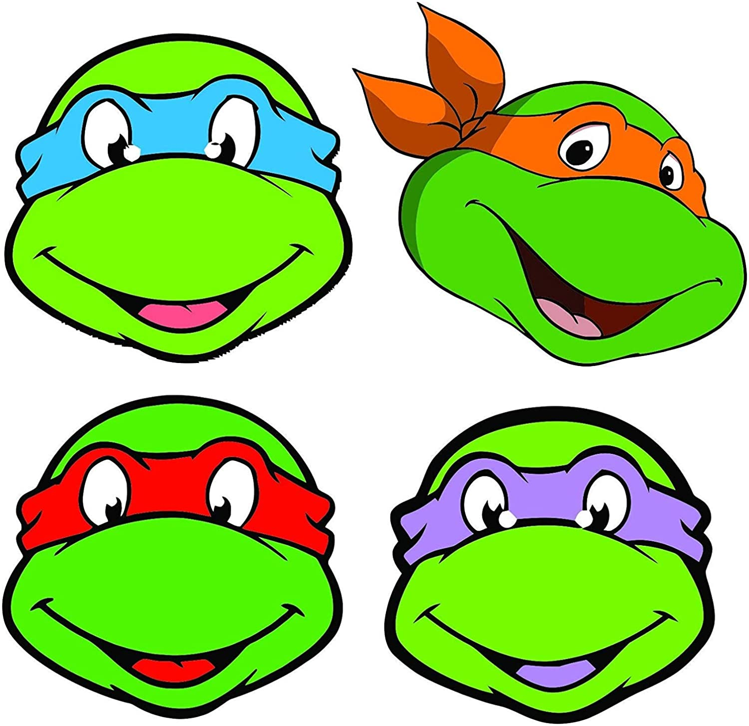 Amazon.com: Ninja Turtles Cartoon Show Movie Character Turtles Turtle Heads  - 5 Inch Sticker Graphic - Auto Wall Laptop Cell phone Bumper Window Decal  Sticker: Kitchen & Dining