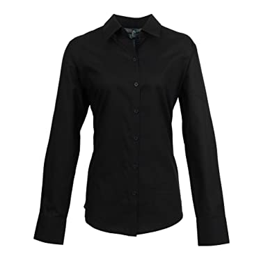 ac5caeafc18 Premier Womens Ladies Signature Oxford Long Sleeve Work Shirt at Amazon  Women s Clothing store
