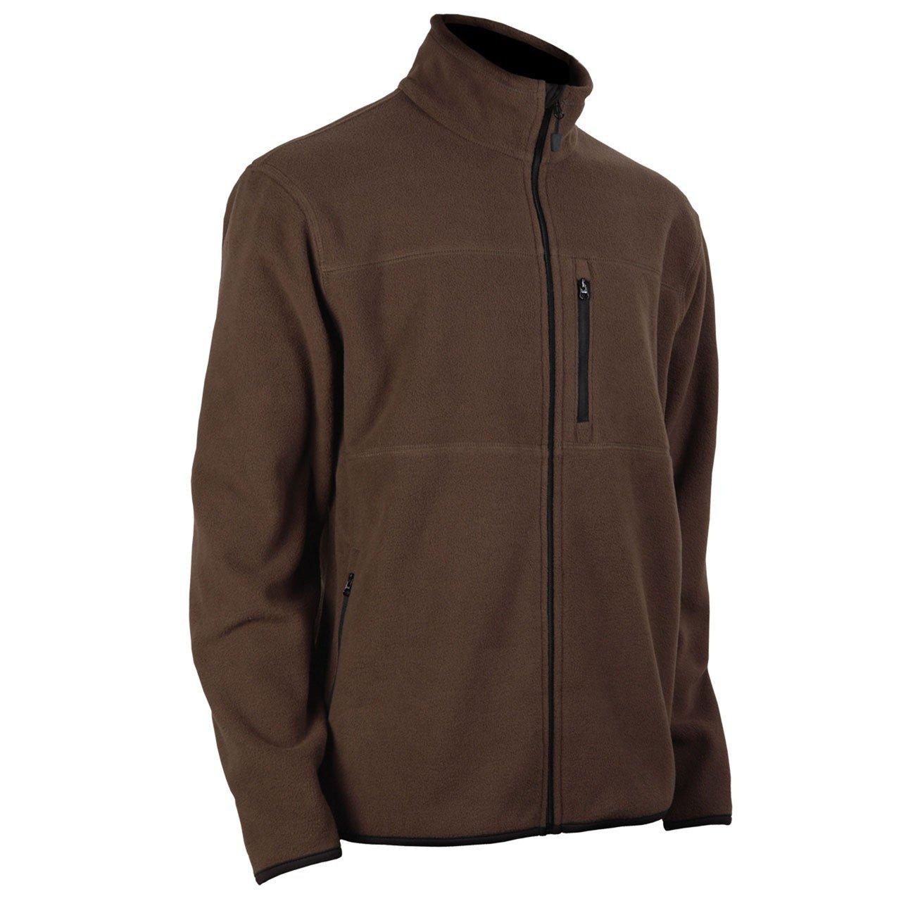 Tres Bien Golf Mens Fleece Jacket-Brown-Medium by Tres Bien Golf