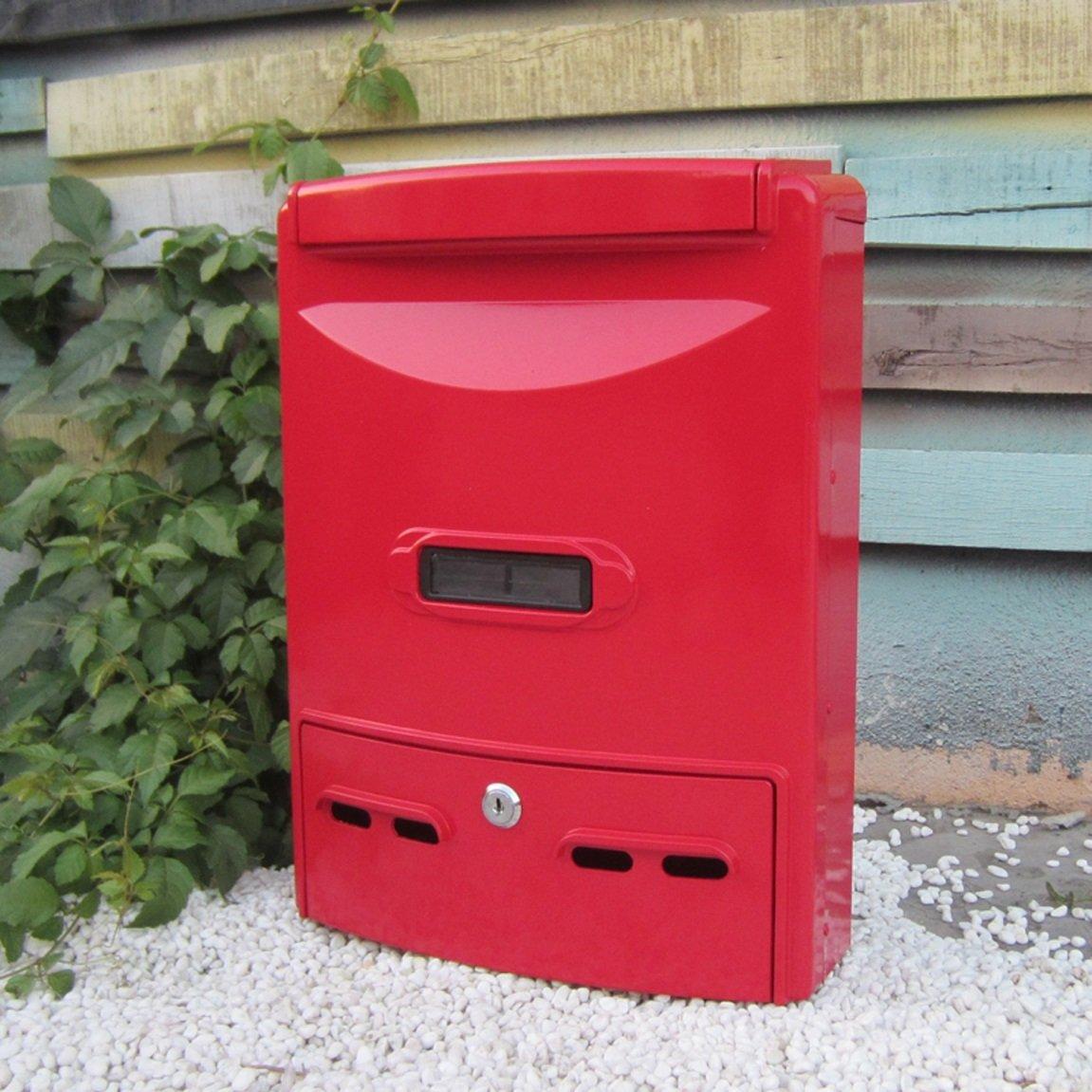 HZBc ヨーロッパの郵便箱防水屋外の郵便箱の提案箱の外壁コレクションボックス、壁の装飾、滑らかな赤   B07L7QBCVL