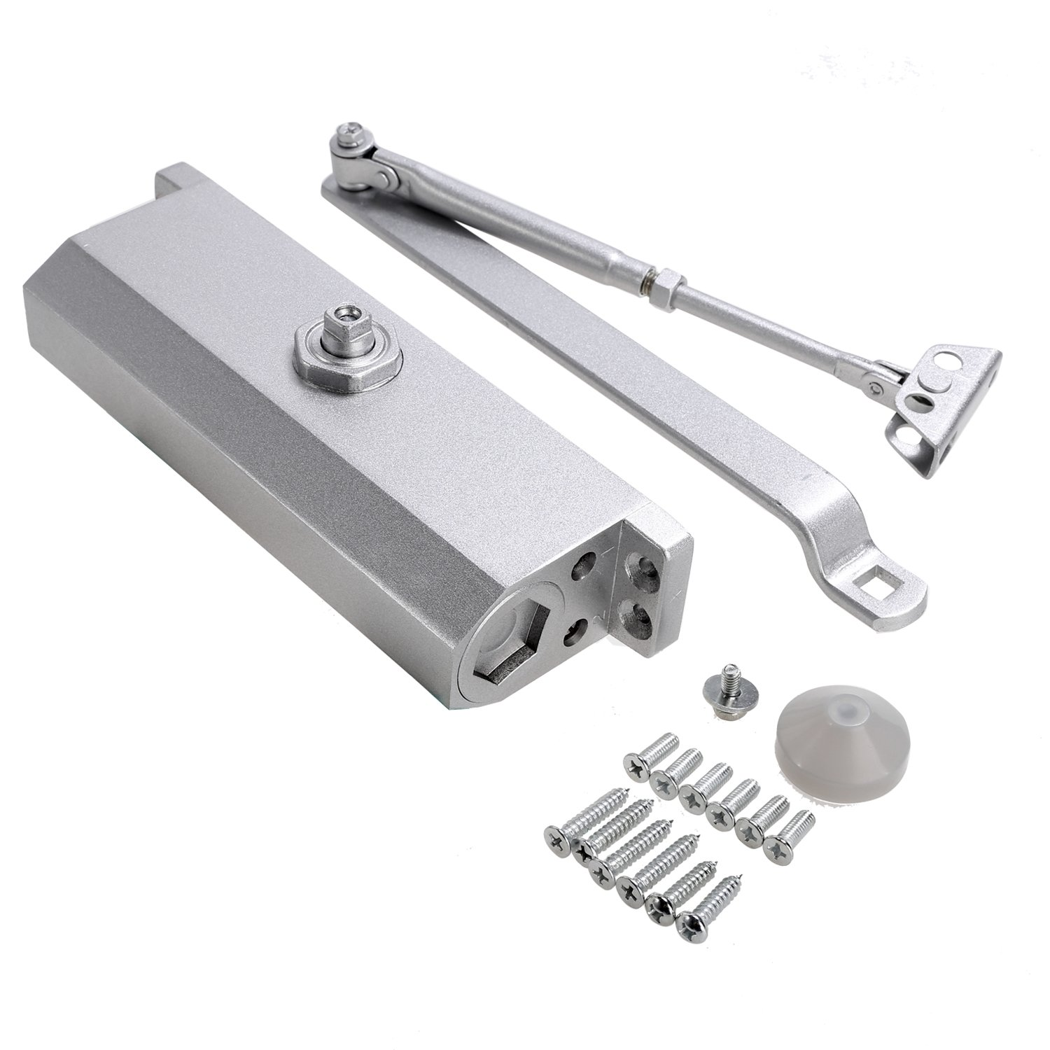 Homevol Huge Automatic Door Closer for Commercial and Residential Use Grade 1 Aluminum Alloy Door Close, for Larger Door Weight 187-265lbs