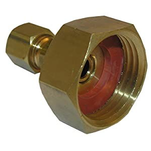 LASCO 17-8381 3/4-Inch Female Garden Hose by 1/4-Inch Compression Brass Adapter
