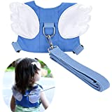 Baby Safety walking Harness-Child Toddler Anti-lost Belt Harness Reins with Leash Kids Assistant Strap Angel Wings Travel Backpack 2017 NEW(Blue)
