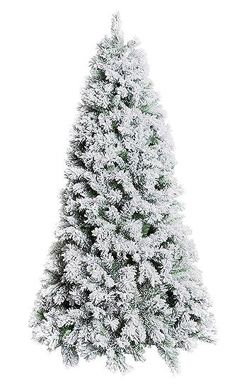 Foto Alberi Di Natale Bianchi.Xone Albero Di Natale Oregon 150 Cm Innevato E Folto Albero Bianco Artificiale In Pvc