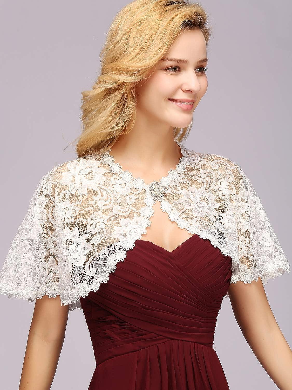 4 Bridal Shawl Bolero from Elastic Lace Front for Tie Many Colours Art Vb