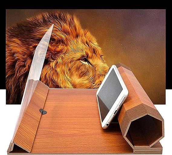 HOTUEEN Mobile Phone Screen Amplifier 12inch HD Anti-Radiation Folding Bracket Stands