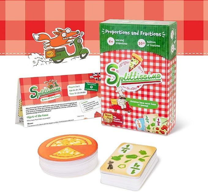 Pizza Juegos de Mesa para niños de 6 y más – Proporciones y fracciones Juegos de Mesa para niños y Familia: Amazon.es: Juguetes y juegos