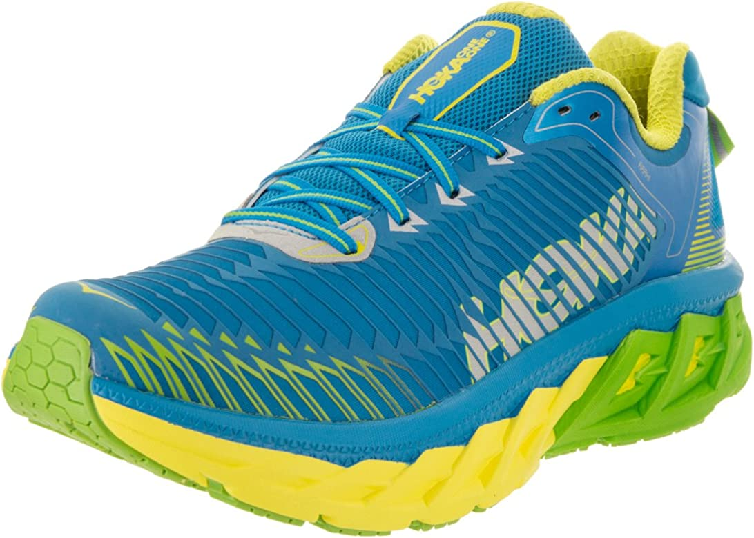HOKA ONE ONE Mens Arahi Running Shoe Blue Aster/Blazing Yellow Size 9.5 M US: Amazon.es: Zapatos y complementos