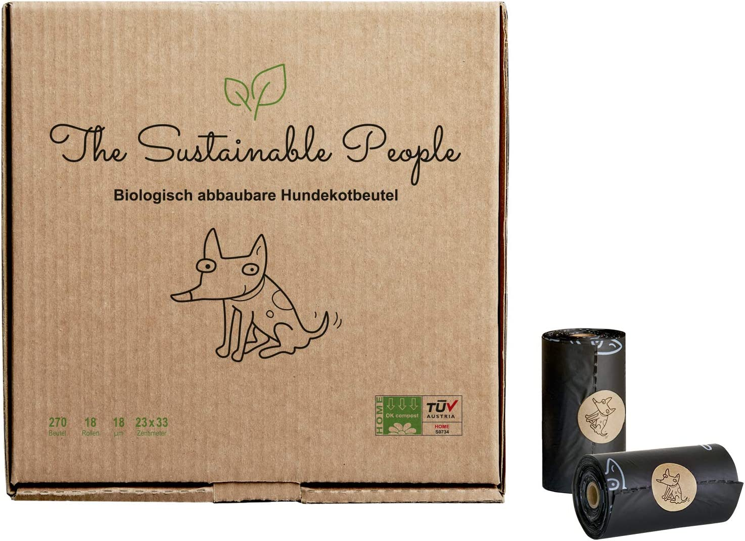Bolsas para excreciones de perro de TSP, 100 % biodegradable ...