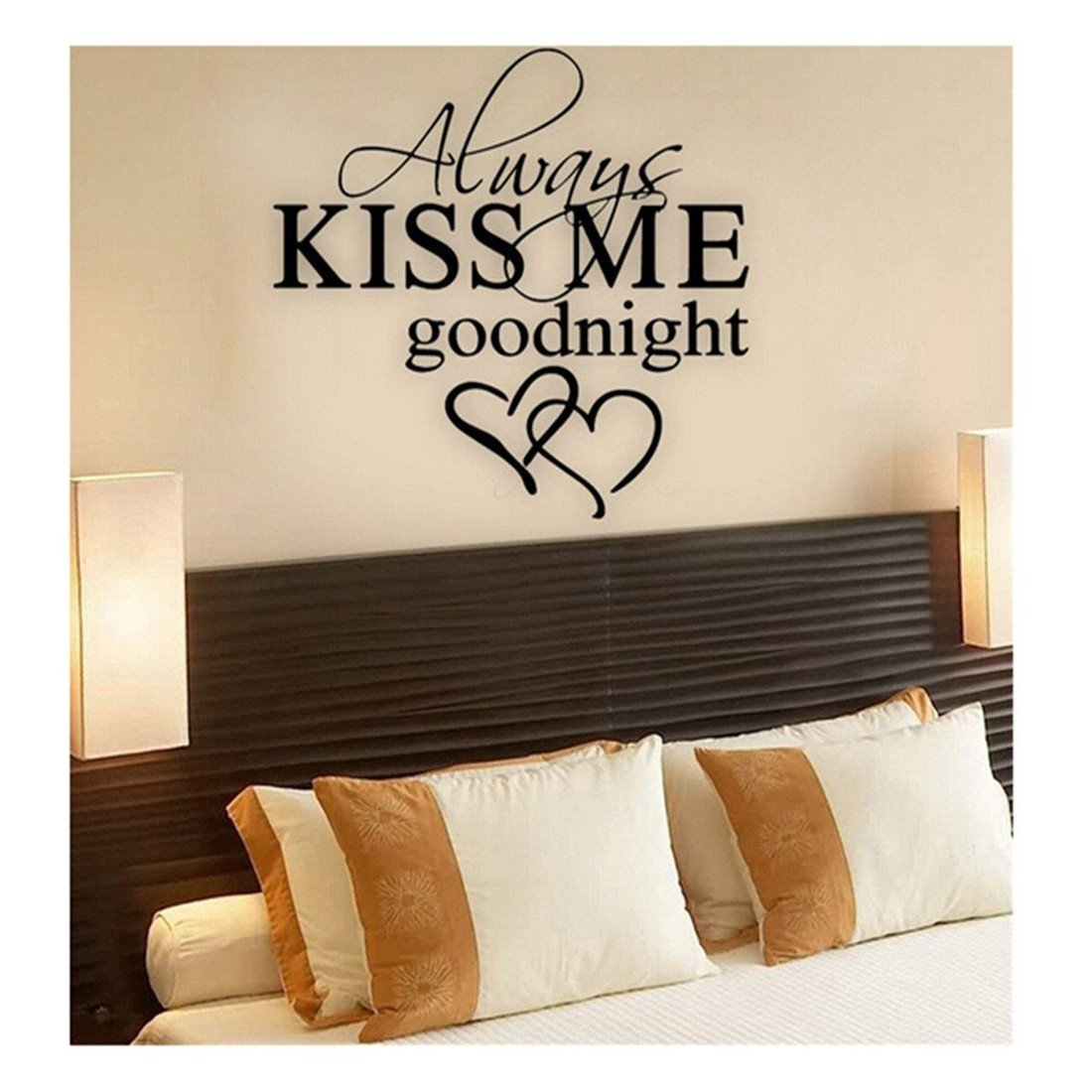Edtoy ALWAYS KISS ME GOODNIGHT LOVE Wall Quote Sticker Art Decal Vinyl Baby Room Decor Mural by Edtoy (Image #2)