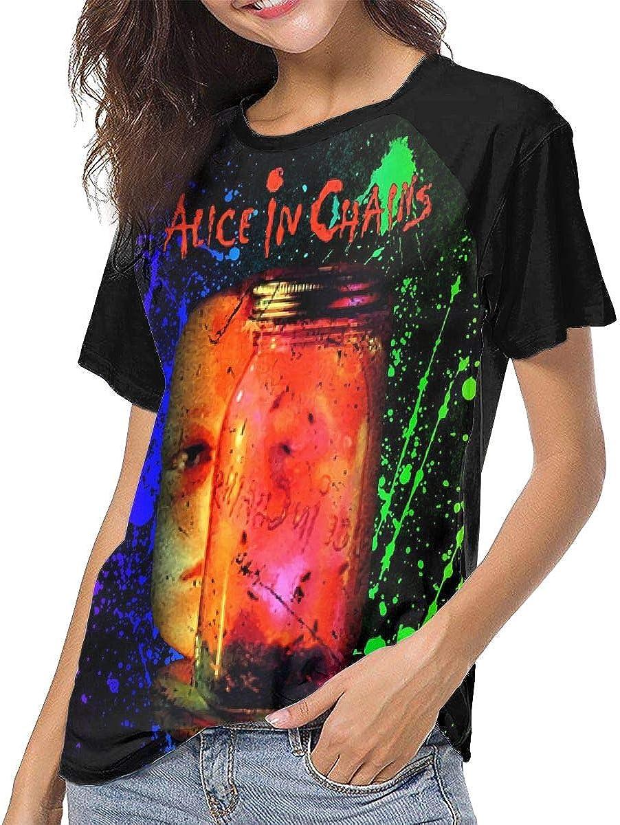 Alice in Chains T Shirts Womens 3//4 Long Sleeve Raglan Sleeve Tops T-Shirt