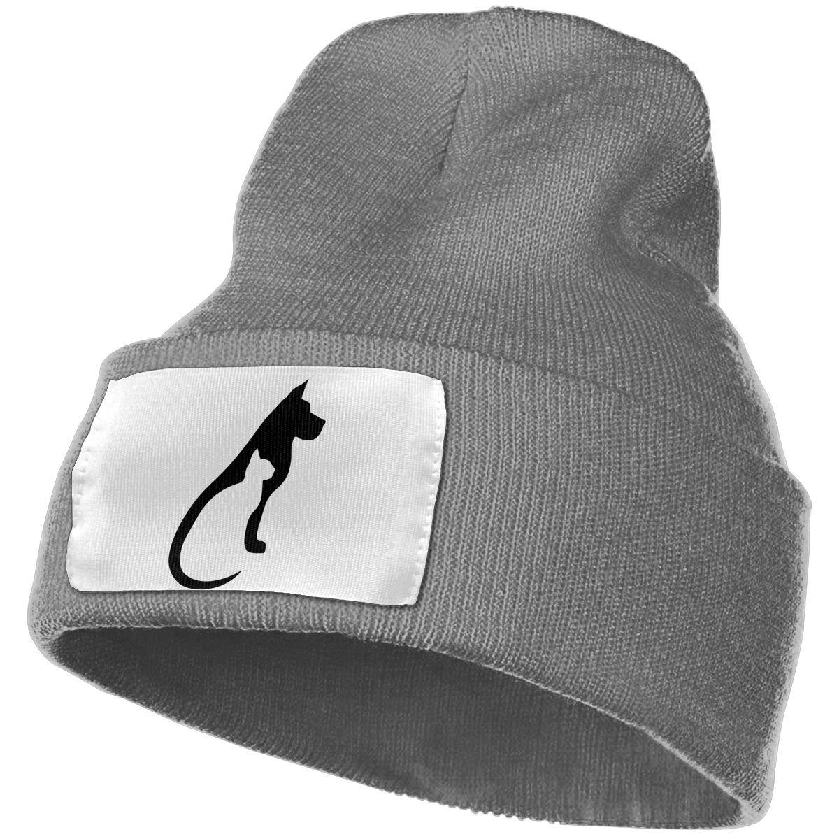 Mens Womens 100/% Acrylic Knit Hat Cap Cat and Dog Warm Ski Cap