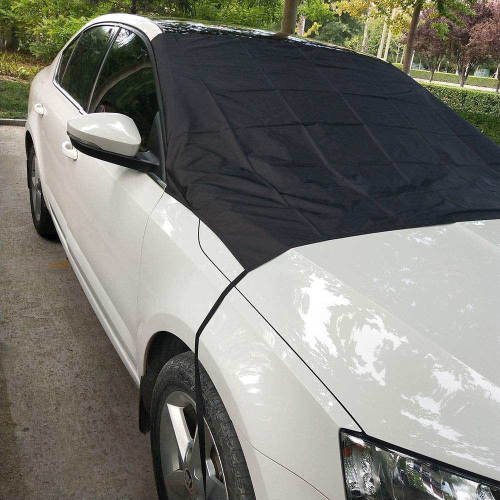 Magnetic Windshield Cover, ONEVER Windshield Cover Ice Snow Any Car, Truck, SUV, Van Automobile