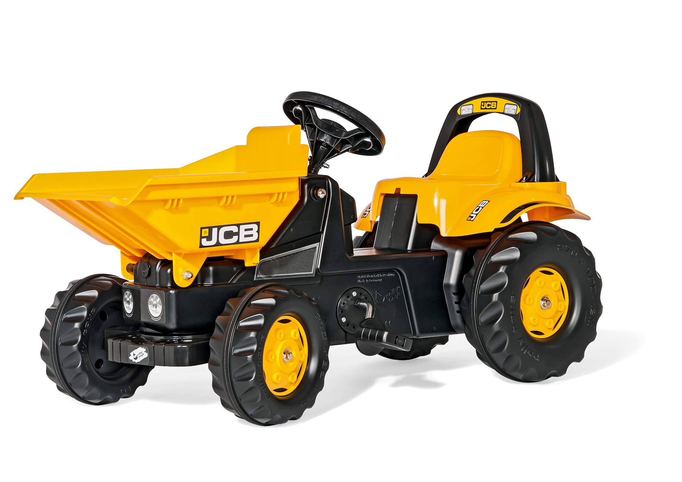 Rolly Toys JCB Dumper Kid Tractor, Yellow