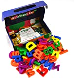 Somasix New and Improved ABC Magnetic Letters and Numbers - Educational Refrigerator Magnets (62 Pieces)