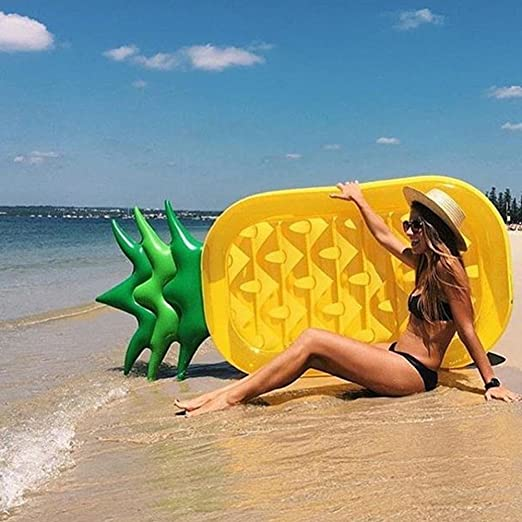 Amazon.com: Aolvo Giant Pineapple Float Inflatable Floaties Floating Boat Summer Floaty Lounge Lounger Raft Beach Toys Outdoor for Adults & Children: Toys & ...