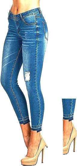 Style/&Co Slant-Hem Skinny Jeans