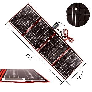 200W  DOKIO 折りたたみ 充電コントローラ付 ソーラーパネル