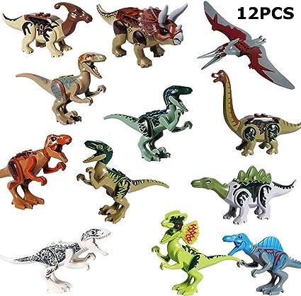 STSTECH Mini Dinosaur Toy Playset,DIY Dinos Building Block Action Figures,Educat
