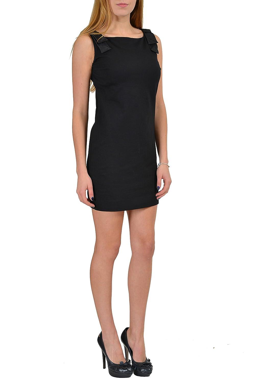 DSQUARED2 Black Sleeveless Womens Shift Dress US S IT 40