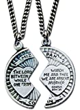 """Mizpah Coin 2 Piece Pewter Necklace 18"""" & 24"""" Chains in Gift Box"""