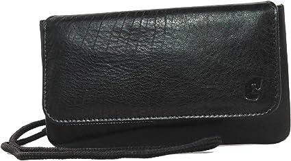 Mens Large Quality Soft Genuine Leather Travel Wallet//Purse Black Card Holder