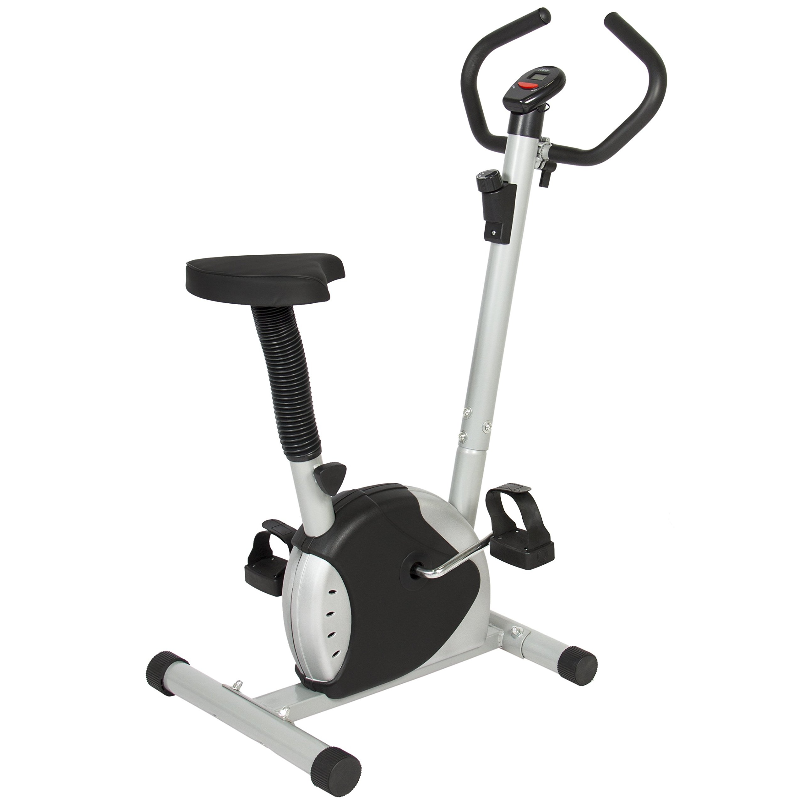 Best Choice Products Adjustable Exercise Bicycle Machine w/Resistance Adjustment - Black/Silver