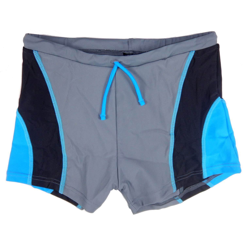 Arch Boys Swim Trunks Boxer Brief Square-Leg Swimming Shorts Teens Kids Swimwear Swimsuit Grey