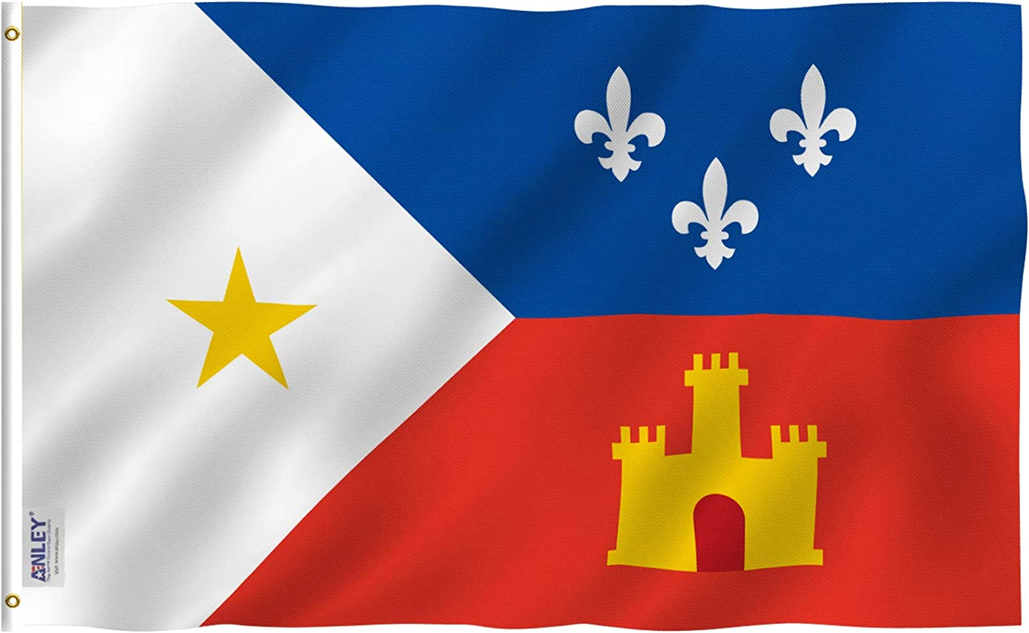 Anley Fly Breeze 3x5 Foot Ethnic Acadian Flag - Vivid Color and Fade Proof - Canvas Header and Double Stitched - Cajun Acadiana Flags Polyester with Brass Grommets 3 X 5 Ft