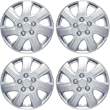 "BDK Toyota Camry 2006-2014 Hubcap Wheel Cover, 16"" Silver Replica Cover, OEM Factory Replacement (4 Pieces)"