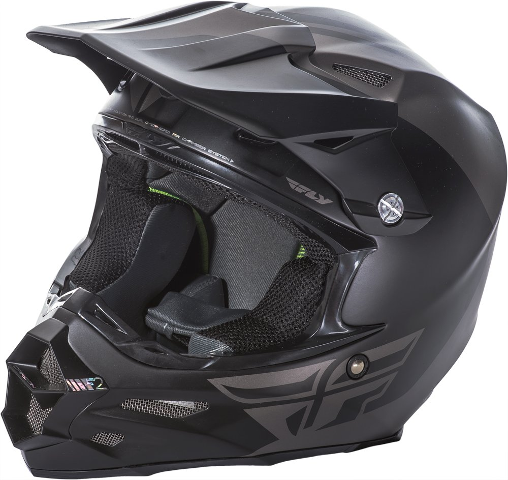 Fly Racing Unisex-Adult Full-face-Helmet-Style F2 Carbon Pure Matte Grey//Black XX-Large 73-41302X