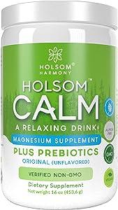 Calm Magnesium Powder, Anti Stress Supplement with Prebiotics (UNFLAVORED)