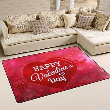 Amazon Com Alaza Non Slip Area Rugs Home Decor Happy Valentines